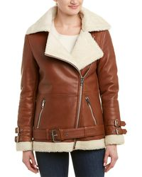 Walter Baker Dnu Today's Fix Bria Leather Jacket - Brown