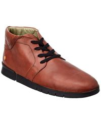 Softinos Softinos By Fly London Cul Leather Trainer - Brown