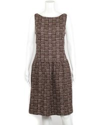Chanel Fall 2012 Multicolour Tweed Dress, Size 44 - Brown