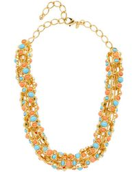 Kenneth Jay Lane - Turquoise & Coral Statement Necklace - Lyst