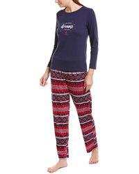 Nautica 2pc Pajama Pant Set - Blue