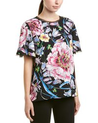 Prabal Gurung Thomson Flounce Sleeve Blouse - Black
