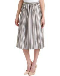Thomas Pink Midi Skirt - Grey