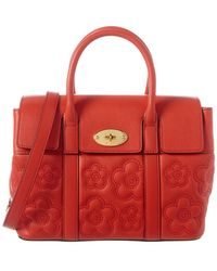 Mulberry New Bayswater Small Flower Quilted Leather Shoulder Bag - Red