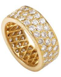 Van Cleef & Arpels Vintage - Van Cleef & Arpels 18k 2.93 Ct. Tw. Diamond Ring - Lyst