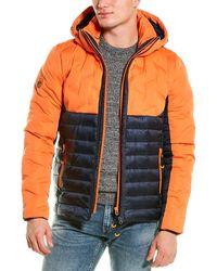 Superdry Radar Mix Quilt Fuji Jacket - Orange
