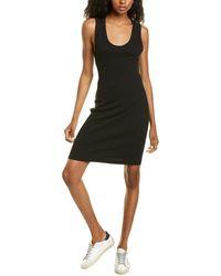 James Perse Ribbed Tank Dress - Black