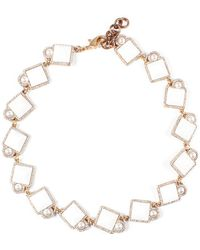 Lulu Frost Mary Riviera Plated Crystal Necklace - Multicolour