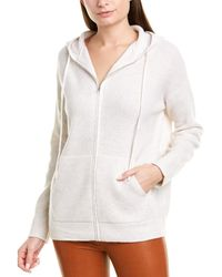 Vince Thermal Wool & Cashmere-blend Hoodie - White