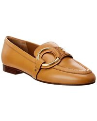 Chloé Demi Buckle Leather Loafer - Brown