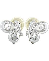 Chopard 18k 0.22 Ct. Tw. Diamond Earrings - Metallic