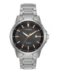 Citizen Men's Casual Black Bracelet Eco Watch - Metallic