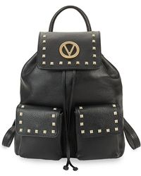 Valentino By Mario Valentino - Simeon Studded Leather Backpack - Lyst