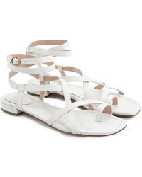 J.Crew Strappy Lucy Leather Sandal - White