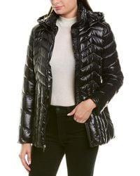 Via Spiga Shiny Puffer Coat - Black