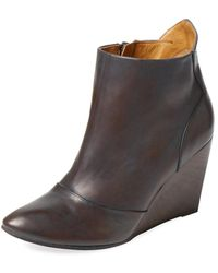 Coclico - Jacynthe Leather Wedge Bootie - Lyst