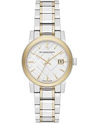 Burberry City Two-tone Stainless Steel Bracelet Watch/34mm - Metallic