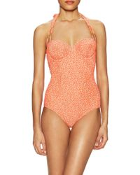 465f3bb998 Lilliput   Felix - Delphinium Balconette Textured One Piece Swimsuit - Lyst