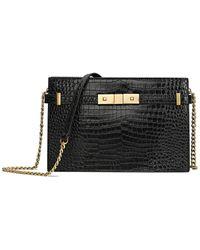 Tiffany & Fred Leather Clutch - Black