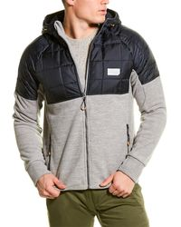 Superdry Polar Fleece Hybrid Jacket - Grey