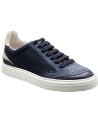 Brunello Cucinelli Leather & Suede Trainer - Blue