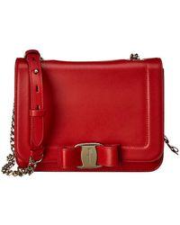 Ferragamo Vara Flap Small Leather Shoulder Bag