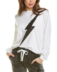 Chrldr Lightning Bolt Sweatshirt - White