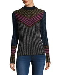 Dodo Bar Or Chevron Merino Wool Shirt - Black