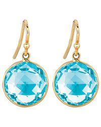 Ariana Rabbani 14k Topaz Lollipop Drop Earrings - Blue
