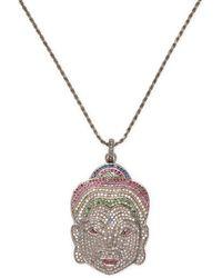 Jyoti New York - 0.913 Tcw Diamond Face Pendant Necklace - Lyst