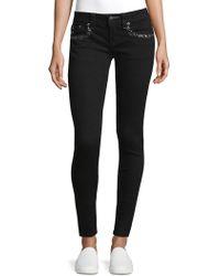 Miss Me Beaded Skinny Jeans - Black
