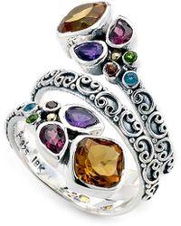 Samuel B. Silver 2.56 Ct. Tw. Gemstone Ring - Metallic