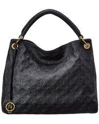 Louis Vuitton Artsy In Orage Monogram Empreinte Leather Hobo Bag - Blue