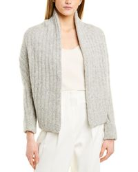 Vince Relaxed Wool-blend Shawl Cardigan - Gray
