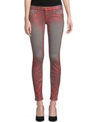Robin's Jean Metallic Skinny Jeans - Grey