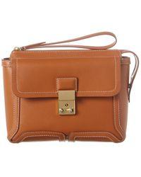 3.1 Phillip Lim Pashli Leather Clutch - Brown