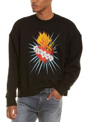 Palm Angels Sacred Heart Sweatshirt - Black