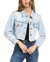 Alice + Olivia Kendall Cropped Boxy Jacket - Blue