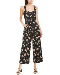 Rebecca Taylor Daniella Floral Jumpsuit - Black
