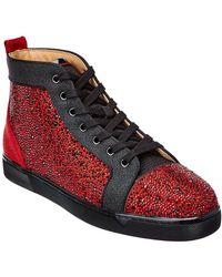 Christian Louboutin Louis Orlato Suede Sneaker - Red