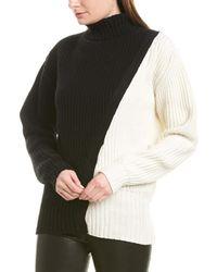 Prabal Gurung Diagonal Cashmere Sweater - Black