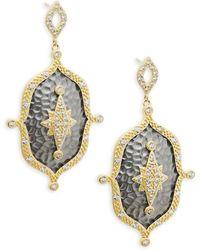 Freida Rothman - Crystal Drop Earrings - Lyst