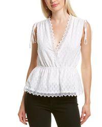 BCBGMAXAZRIA Lace-trim Top - White