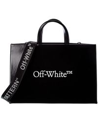 Off-White c/o Virgil Abloh Off-white? Logo Leather Tote - Black