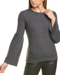 Michael Stars Bell Sleeve Sweater In Charcoal - Gray