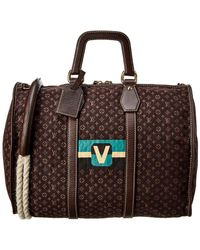 Louis Vuitton Brown Monogram Mini Lin Canvas Keepall 45