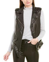 VEDA Castor Leather Vest - Black