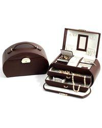 Bey-berk 3-level Leather Jewellery Box - Multicolour