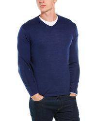 Greyson Guide Wool-blend V-neck Sweater - Blue