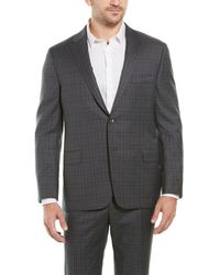 Hickey Freeman 2pc Beacon Wool Suit With Flat Pant - Gray